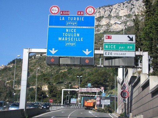 Autostrada A8: dal 1° ottobre 90 km orari tra Antibes e Nice-Saint Isidore
