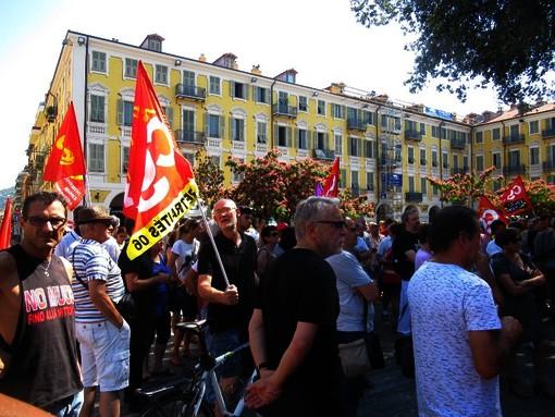 Una manifestazione in Place Garibaldi a Nizza