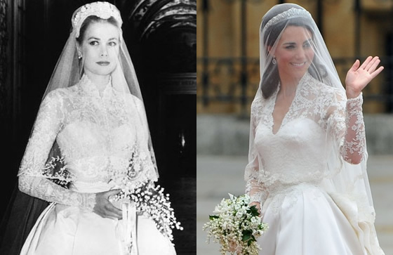 Bouquet Sposa Principessa Kate.Matrimonio Kate E William Grace Kelly Fa Scuola E Charlene E La