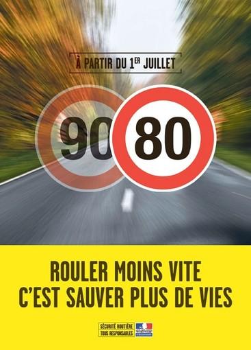 """Il """"vecchio"""" manifesto sugli 80 Km orari"""