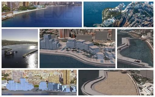Monaco: posati i 18 'cassoni' che sosteranno il nuovo quartiere del Principato 'sottratto' al mare (Foto e Video)