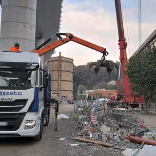 Il 'Gruppo Marazzato' all'inaugurazione del nuovo ponte di Genova