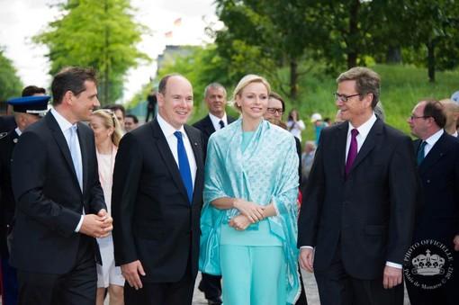 La coppia dei Principi di Monaco in Germania - photo copyright Palais Princier