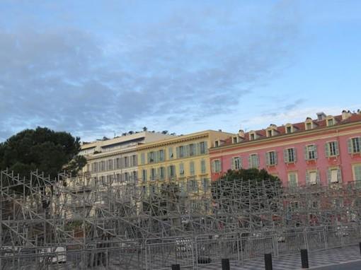 Place Massena nella mattinata del 19 gennaio
