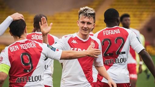 Felicità dei giocatori del Monaco dopo la gara col Digione (Foto tratta dal sito dell'AS Monaco)