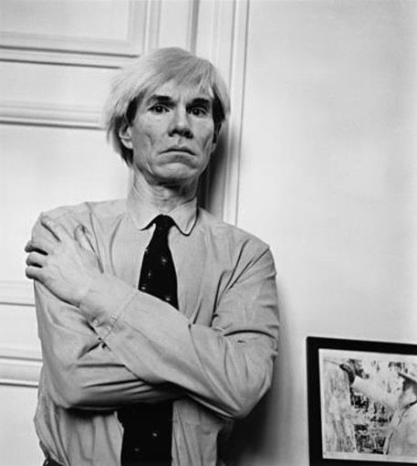 André Ostier Andy Warhol Mars 1982 Tirage argentique Collection particulière © Indivision A. et A. Ostier