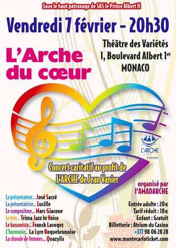 """Un nuovo concerto di solidarietà a Monte Carlo con l'Associazione """"L'Amadarche"""""""