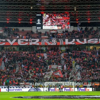 Stadio e tifoseria del Bayer 04 Leverkusen (Twitter)