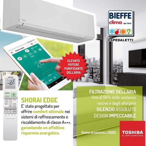 In provincia di Imperia con Bieffe Clima aria fresca e salutare in casa con la nuova linea di condizionatori Toshiba Shorai Edge