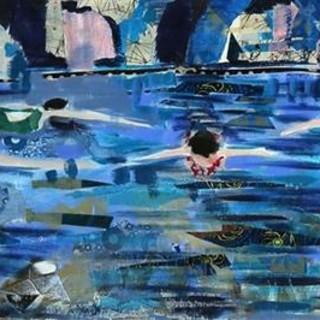 Le opere di Brigitte Gaudou sui muri delle Puces de Nice