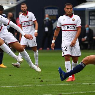 Bordeaux - Nizza, una fase di gioco (foto tratta dal sito dell'OGC Nice)