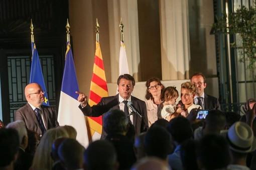 Christian Estrosi la scorsa domenica, dopo l'elezione