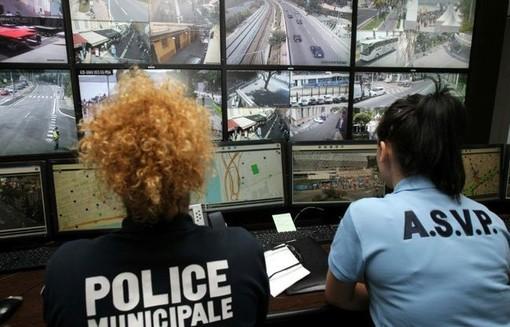 Il centro di videosorveglianza a Nizza