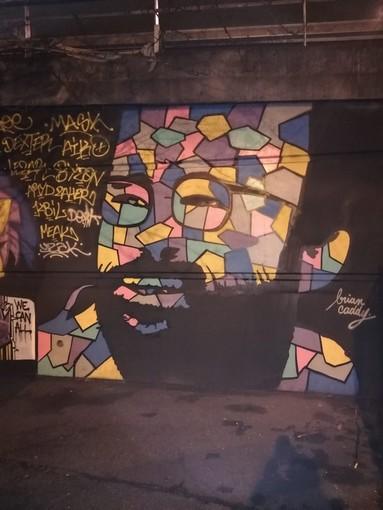 Il murales di Cedric Herrou a Nizza