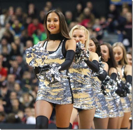 Cheer dancers parade, Lituania