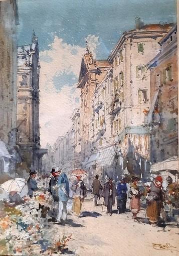 Emmanuel Costa (1833-1921) Marché aux fleurs
