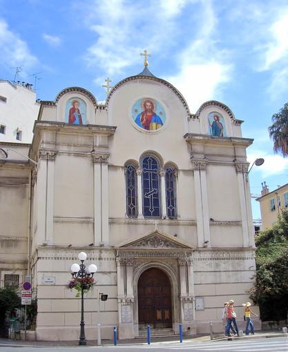 """La """"vecchia chiesa"""" ortodossa di Saint Nicolas et Sainte Alexandra in rue Longchamp a Nizza"""