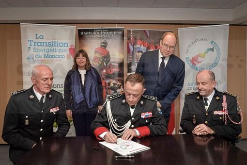 Principato di Monaco : Carabinieri del Principe e Pompieri firmano il patto nazionale per la transizione energetica
