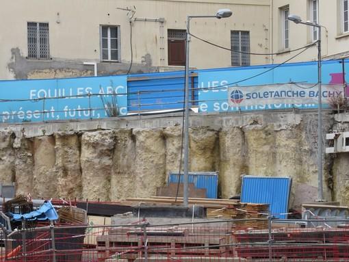 Gli scavi nei pressi di Place Garibaldi a Nizza