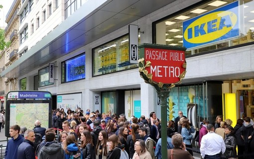 Il magazzino Ikea nel Ier arrondissement di Parigi