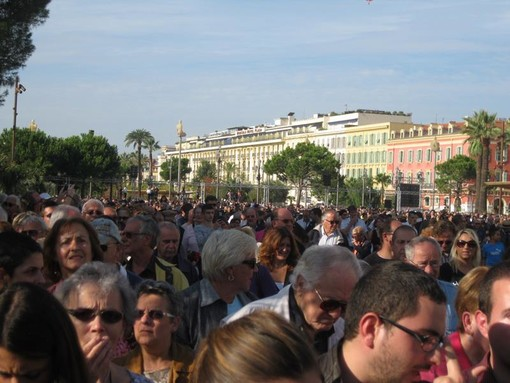 Il giorno dell'inaugurazione della Promenade du Paillon