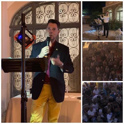 La rinascita di Villa Nobel: ieri sera bagno di folla per l'evento apericena d'autore