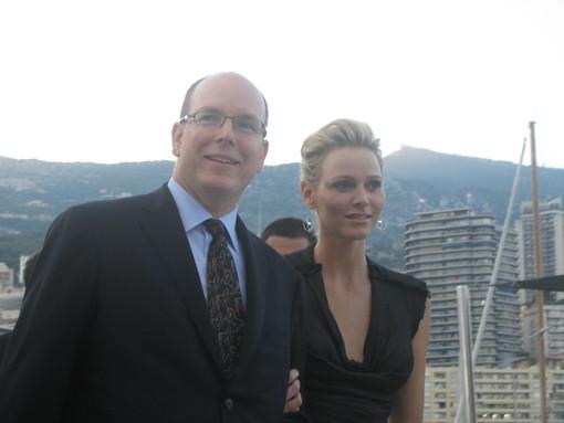 S.A.S. Alberto II e Charlene Wittstock al Jumping International di Monte-Carlo