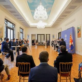 Incontro di Christian Estrosi col mondo culturale di Nizza ieri in municipio