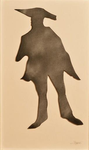 Jean MAS. L'Ombre du Douanier Rousseau, n.d. Technique mixte. 105 x 65 cm