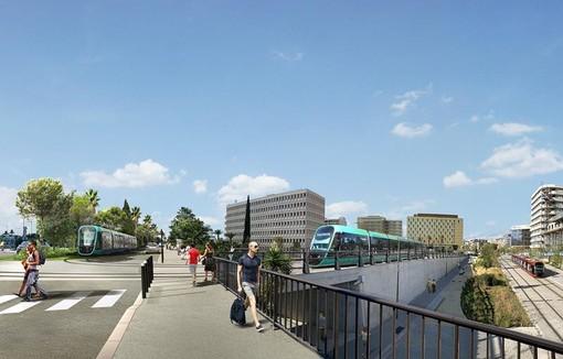 La prossima Ligne 4 alle Grand Arenas di Nizza, punto di interconnessione