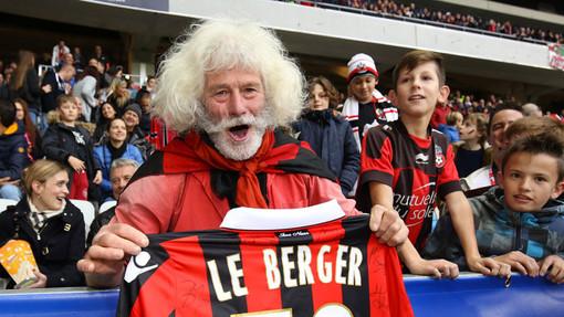 """""""Le Berger"""", alias Paul Capietto, super tifoso del Nizza improvvisamente scomparso (foto tratta dal sito dell'OGC Nice)"""
