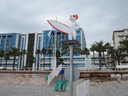 """La """"nuova"""" spiaggia per cani di fronte all'Ospedale infantile Lenval"""