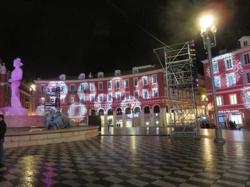 Luminarie natalizie a Nizza