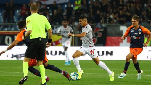 Montpellier - Nizza, una fase di gioco (foto tratta dal sito dell'OGC Nice)