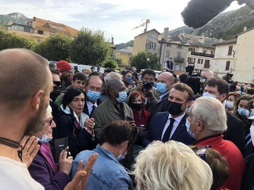 Il Presidente della Repubblica Emmanuel Macron a Tende
