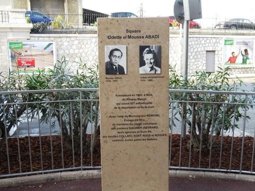 Il monumento per ricordare Odette et Moussa Abadi