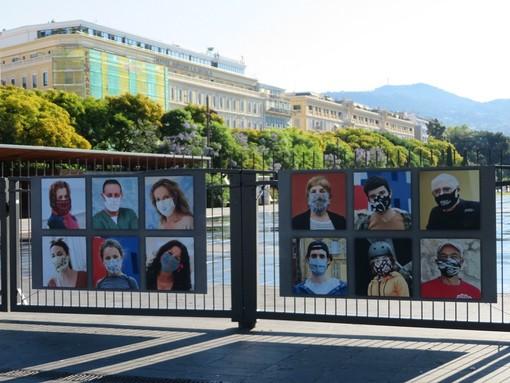 """100% Mask in Nice"", Place Massena"