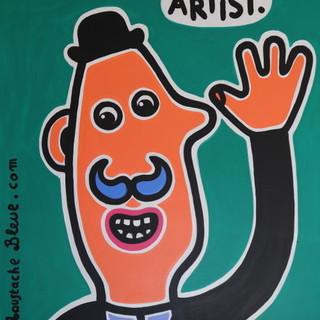 """Le opere di """"Moustache bleue"""" sui muri delle Puces de Nice"""
