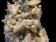 Scalénoédres de calcite sur quartz 14 x 9 cm, Les Porres (Var), Coll. D. et G. MARI – Photo : L. – D. Bayle