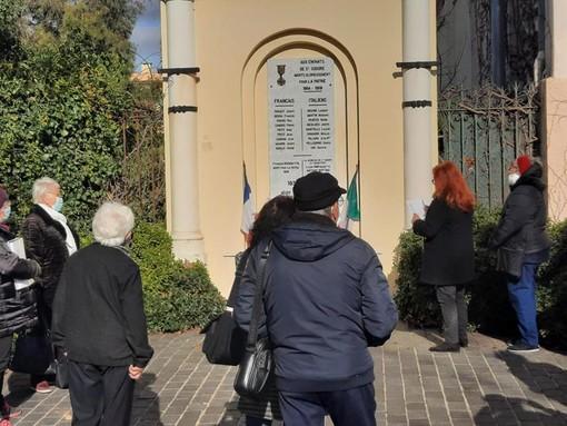 Mercoledì 27 gennaio 2021, Monument aux Morts di Nice Saint Isidore foto di di Robert Benassaya e Danilo Radaelli