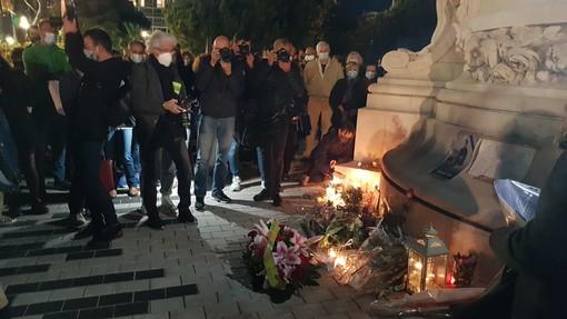 Una manifestazione a Nizza dopo l'assassinio di Samuel Paty (foto di Ghjuvan Pasquale)