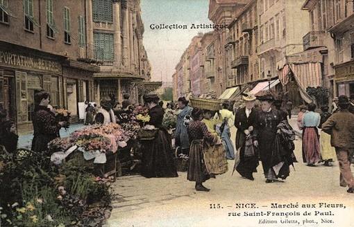 Il mercato dei fiori di Nizza, Jean Gilletta, Musée Massena