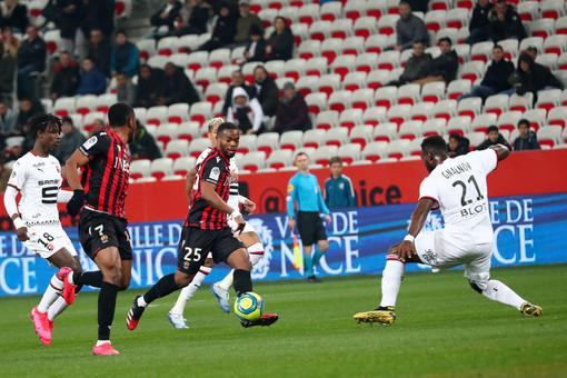 Nizza - Rennes, una fase di gioco (foto tratta dal sito dell'OGC Nice)