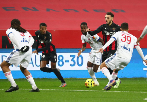 Nizza - Lione, una fase di gioco (foto tratta dal sito dell'OGC Nice)