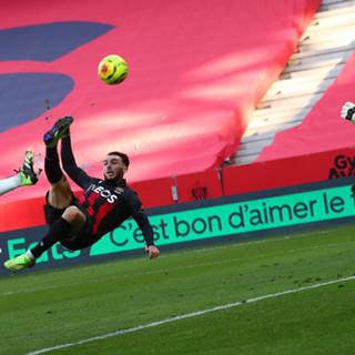 Nice - Rennes, una fase di gioco (foto tratta dal sito dell'OGC Nice)