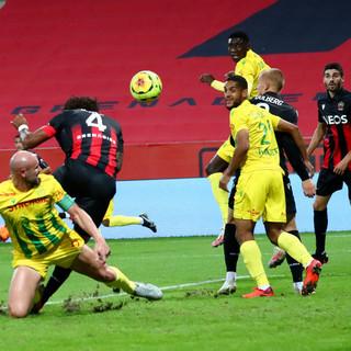 Nizza - Nantes, una fase di gioco (foto tratta dal sito dell'OGC Nice)