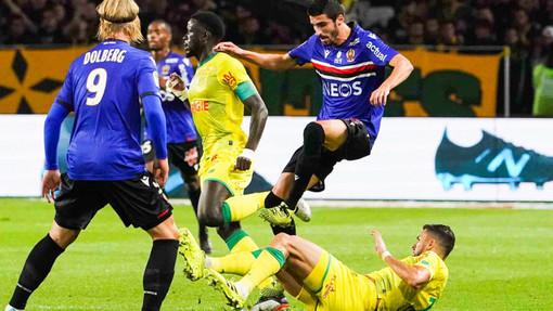 Nantes - Nizza, una fase di gioco (fopto tratta dal sito dell'OGC Nice)