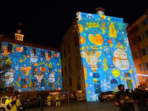 Le coreografie luminose di Place Saint François , fotografie di Danilo Radaelli