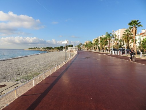 Campo lungo sulla Promenade des Anglais