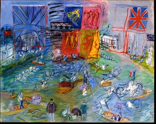 Raoul DUFY « Parade - Les Régates à Henley », 1934-1952 Huile sur toile Collection Musée des Beaux-Arts Jules Chéret – copyright Adagp 2019 photo Muriel Anssens